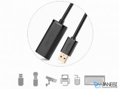 کابل افزایش طول یو اس بی یوگرین Ugreen US121 10321 USB 2.0 Active Extension Cable With Chipset 10M