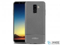 کاور ژله ای طرح چرم سامسونگ Becation Auto Focus Case Samsung Galaxy A6 Plus 2018