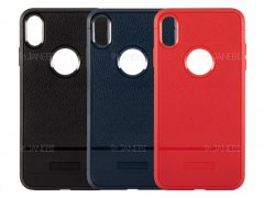 قاب ژله ای طرح چرم آیفون Becation Ruged Armor Case iPhone XS