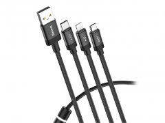 کابل چند منظوره سر بیسوس Baseus Data Faction 3-in-1 Cable