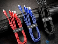 کابل سه سر بیسوس Baseus Data Faction 3-in-1 Cable