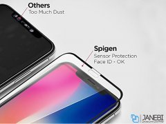 محافظ صفحه نمایش اسپیگن آیفون Spigen Screen Protector GLAS.tR Slim HD Apple iPhone X