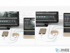 هاب تایپ سی اچ دی ام آی 5 پورت اوریکو Orico HDMI Type-C to USB3.1 HUB RCH3A