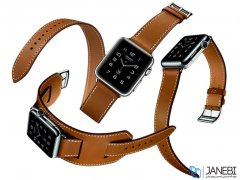 بند چرمی دو دور اپل واچ Hoco Apple Watch Art Series Platinum Leather Watchband 42mm