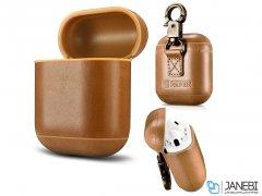 کاور محافظ چرمی ایرپاد اپل Icarer Leather Case Apple Airpods