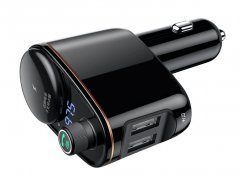 شارژر فندکی بیسوس با قابلیت پخش موسیقی و تماس Baseus Locomotive Bluetooth MP3 Vehicle Charger