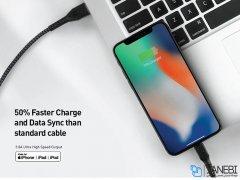کابل شارژ سریع و انتقال داده لایتنینگ انرژیا Energea Fibratough Cable Lightning 1.5M
