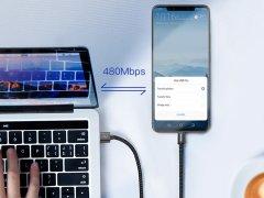 کابل شارژ سریع و انتقال داده بیسوس  Baseus Double Fast Charging Type-C Cable 1m 5A