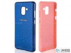 قاب محافظ طرح پارچه ای سامسونگ Protective Cover Samsung Galaxy A6 2018