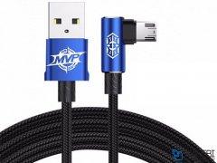 کابل میکرو یو اس بی بیسوس Baseus MVP Elbow Micro USB Cable 1m