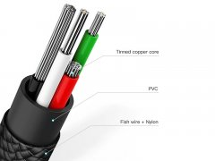 کابل دو سر میکرو یو اس بی و تایپ سی بیسوس Baseus U-shaped portable data cable