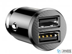 شارژر فندکی بیسوس Baseus Grain Dual USB Car Charger