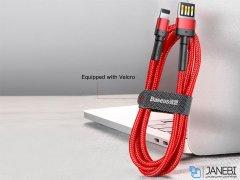 کابل شارژ لایتنینگ بیسوس Baseus Cafule Special Edition Lightning Cable 2m