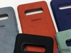 قاب محافظ سامسونگ اس 10 پلاس Samsung Galaxy S10 Plus Alcantara Cover