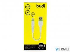کابل شارژ کوتاه لایتنینگ budi Lightning To USB Charger Cable 20CM