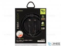 کابل شارژ سریع و انتقال داده تایپ سی انرژیا Energea Fibratough Cable Type-C to Type-C PD Fast Charge 1M