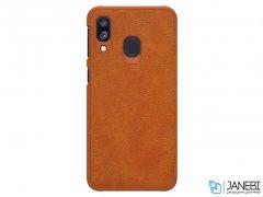 کاور چرمی نیلکین سامسونگ Nillkin Qin leather case Samsung Galaxy A40