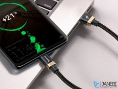 کابل تایپ سی سریع بیسوس Baseus Purple Gold Red Flash Type-C Cable 1m