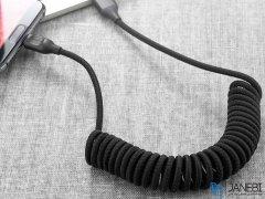 کابل تایپ سی تلفنی راک Rock RCB0657 Type-C Stretchable Cable 1.5m