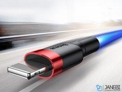 کابل شارژ سریع و انتقال داده لایتنینگ بیسوس Baseus Cafule Lightning Cable 0.5m 2.4A