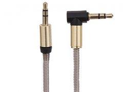 کابل انتقال صدای فلزی ریمکس Remax P-16b 3.5mm AUX Cable 1m