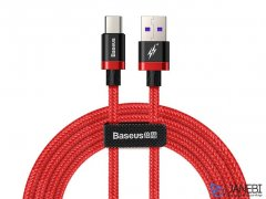 کابل تایپ سی سریع بیسوس Baseus Purple Gold Red Flash Type-C Cable 2m