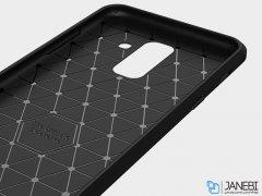 محافظ ژله ای سامسونگ Carbon Fibre Case Samsung Galaxy A6 Plus 2018