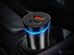 شارژر فندکی سریع جویروم Joyroom JR-C08 Smart dual-port Car Charger