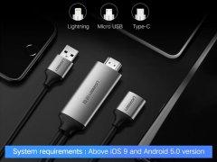 کابل مبدل اچ دی ام آی به یو اس بی Ugreen HDMI Full HD 1080p to USB