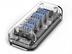 هاب یو اس بی 4 پورت اوریکو Orico 4 Port USB3.0 Transparent HUB F4U-U3
