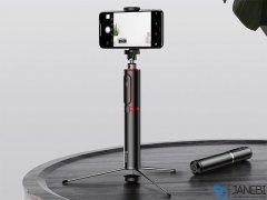 سه پایه و مونوپاد گوشی بیسوس Baseus Bluetooth Selfie Stick