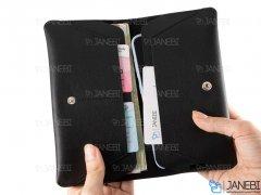 کیف چند منظوره چرمی WUW P39 Fashion Phone Wallet Case