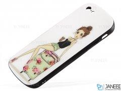 قاب محافظ آیفون طرح دختروچمدان Apple iPhone 6/6S Girl&Suitcase Case