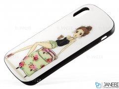 قاب محافظ آیفون طرح دختروچمدان Apple iPhone X/XS Girl&Suitcase Case