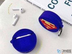 کاور محافظ سیلیکونی ایرپاد طرح سوپرمن SuperMan Silicone Case Apple Airpods