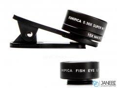 لنز فیش آی و واید و ماکرو گوشی موبایل لی کیو آی Lieqi F-516 Wide Angle & Macro & Fisheye Lens