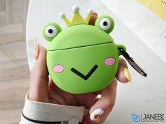 کاور محافظ سیلیکونی ایرپاد طرح قورباغه Frog Silicone Case Apple Airpods