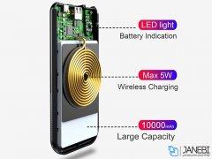 پاور بانک و شارژر وایرلس بیسوس Baseus Thin Version 10000mAh Wireless Charging Power Bank
