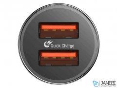 شارژر فندکی دو پورت سریع بیسوس Baseus Small Screw Dual USB Quick Car Charger