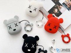کاور محافظ سیلیکونی ایرپاد طرح خرس Bear Silicone Case Apple Airpods