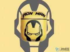 کاور محافظ ایرپاد طرح مردآهنی Iron Man Silicone Case Apple Airpods
