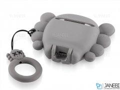 کاور محافظ سیلیکونی ایرپاد طرح آدم فضایی Alien Silicone Case Apple Airpods