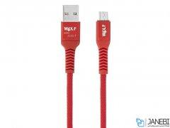 کابل شارژ و انتقال داده میکرو یو اس بی Wolf Micro USB Cable 1m