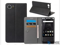 کیف طرح چرم بلک بری BlackBerry KEYone DTEK70/Mercury Leather Cover