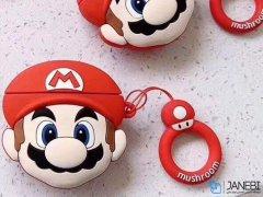 کاور محافظ سیلیکونی ایرپاد طرح ماریو Mario Silicone Case Apple Airpods
