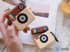 کاور محافظ سیلیکونی ایرپاد طرح اینستاگرام Instagram Silicone Case Apple Airpods