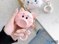 کاور محافظ سیلیکونی ایرپاد طرح خوک Pig Silicone Case Apple Airpods