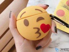 کاور محافظ سیلیکونی ایرپاد طرح ایموجی Kiss Emoji Silicone Case Apple Airpods