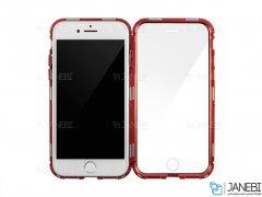 قاب مگنتی و محافظ صفحه شیشه ای آیفون Glass Magnetic 360 Case Apple iPhone 7/8