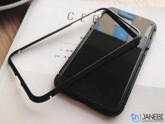 قاب مگنتی و محافظ صفحه شیشه ای آیفون Glass Magnetic 360 Case Apple iPhone XS Max